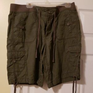 Faded glory cargo shorts olive green 16
